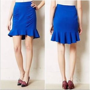 Anthropology HD In Paris Blue Skirt. Size 8